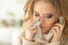 Upset young woman Stock Images
