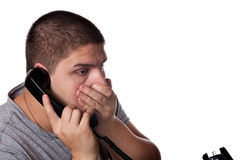 Upsetting Phone Call Stock Photos