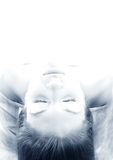 Upside down #2 blue toned royalty free stock images
