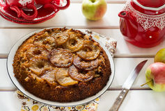 Upside Down Apple Cake Royalty Free Stock Photo