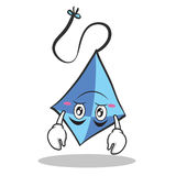 Upside down blue kite character cartoon Royalty Free Stock Photography