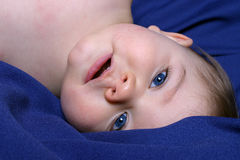 Upside Down Boy. Upside Down Portrait of a Baby Boy Stock Images