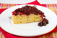 Upside down cake Stock Photo