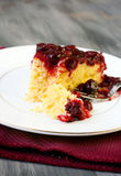Upside down cake Royalty Free Stock Photos