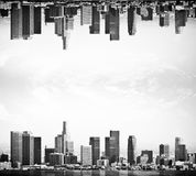 Upside down city Royalty Free Stock Photo