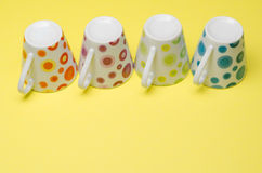 Upside down colorful cups Royalty Free Stock Photography