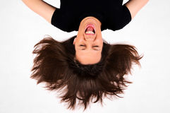 Upside down hairstyle Stock Image