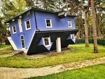 Upside down house. In Pobierowo village in Poland Royalty Free Stock Photo