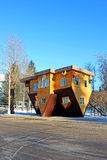 Upside down house in the Russian Exhibition Center in Moscow Stock Images