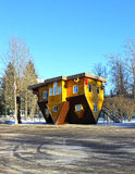 Upside down house in the Russian Exhibition Center in Moscow Royalty Free Stock Image