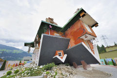 Upside-down House Royalty Free Stock Images