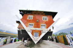 Upside-down House Stock Photography