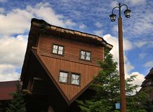 Upside Down House. In Poland royalty free stock photos
