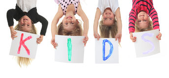 Upside down kid Royalty Free Stock Images