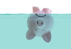 Upside down piggy bank Royalty Free Stock Images