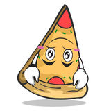 Upside down pizza character cartoon. Vector illustration Royalty Free Stock Photos
