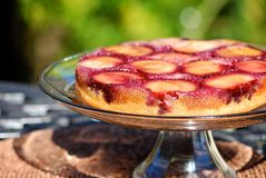 Upside down plum cake Royalty Free Stock Photos