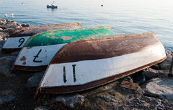 Upside Down Rowboats Royalty Free Stock Photo