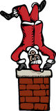 Upside-Down Santa Royalty Free Stock Photo