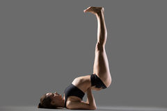 Upside-Down Seal yoga Pose Royalty Free Stock Image