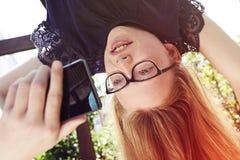 Upside Down Selfie royalty free stock photos