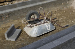 Upside down wheelbarrow Royalty Free Stock Photography