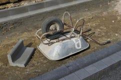Upside down wheelbarrow Royalty Free Stock Photography