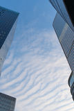 Upside view of office building Stock Photography