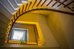 Upside view of a spiral staircase Stock Photography