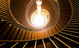 Upside view of a spiral staircase. Stock Photo