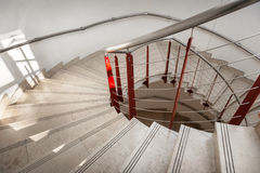 Upside view of a spiral staircase Royalty Free Stock Photo