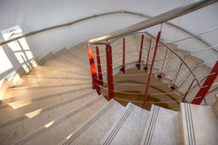 Upside view of a spiral staircase Royalty Free Stock Images