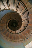 Upside view of a spiral staircase Stock Image