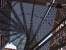 Upside view of a spiral staircase Stock Photos