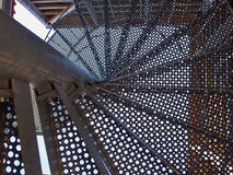 Upside view of a spiral staircase Stock Images