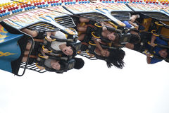 Upsidedown Riders Stock Photo