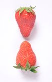 Upsidedown strawberries Royalty Free Stock Photo