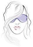 γυαλιά ηλίου σκίτσων πο&upsil Στοκ φωτογραφία με δικαίωμα ελεύθερης χρήσης