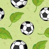 το ποδόσφαιρο αφήνει άνε&upsilo Στοκ εικόνες με δικαίωμα ελεύθερης χρήσης