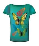 γυναίκα πουκάμισων τ το&upsilon Στοκ εικόνα με δικαίωμα ελεύθερης χρήσης