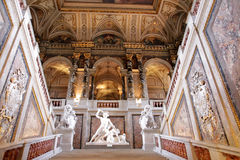 Upstair en un museo de Kunsthistorisches, Viena Imágenes de archivo libres de regalías