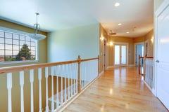 Upstairs hallway with railings Stock Image