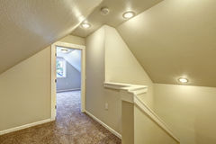 Upstairs hallway with vaulted ceiling Stock Photography