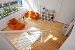 Upstairs loft view Royalty Free Stock Images