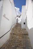 Upstairs street at Vejer village Stock Image