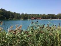 Upstate lago new York nella fine dell'estate fotografia stock
