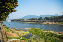 Upstream of a big river. A view of the upstream of a big river in China, it's also the home town of Jieshi Jiang, who is the president of the Republic of China Stock Photos
