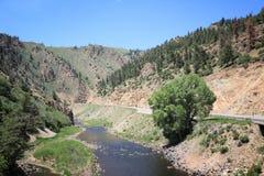 Upstream Colorado River. Landscape in Hot Sulphur State Wildlife Area Stock Photos