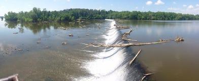 Upstream. A favorite fishing spot in north Carolinas Royalty Free Stock Image