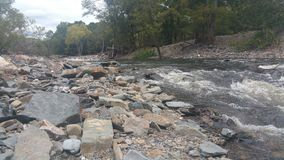 Upstream. The upstream view of some more Rapids rushing Royalty Free Stock Photography